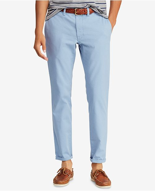 uk availability rich and magnificent fast color Polo Ralph Lauren Men's Slim-Fit Stretch Bedford Chino ...