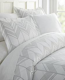 Home Collection Premium Ultra Soft Alps Chevron Pattern 3 Piece Duvet Cover Set