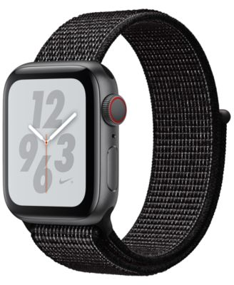 AppleWatch Nike+ Series4 GPS+Cellular, 40mm Space Gray Aluminum Case with Black Nike Sport Loop