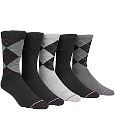 Tommy Hilfiger Men's 5-Pk. Argyle Crew Socks