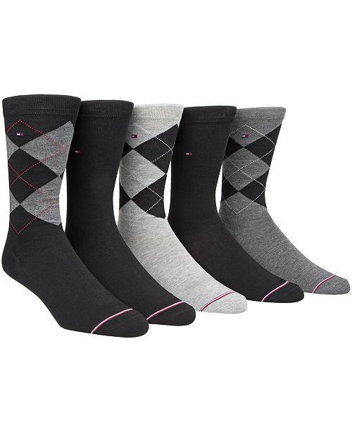 de53cd78 Tommy Hilfiger Men's 5-Pk. Argyle Crew Socks & Reviews - Underwear ...