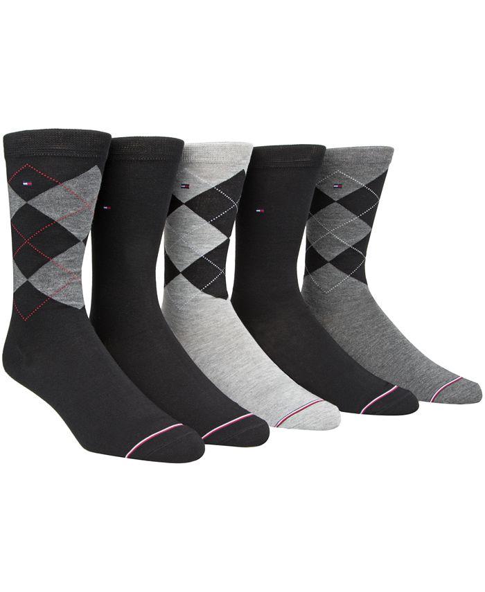 Tommy Hilfiger - Men's 5-Pk. Argyle Crew Socks