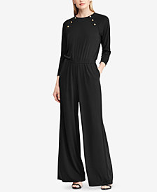 Ralph Lauren Petite Stretch Jersey Jumpsuit