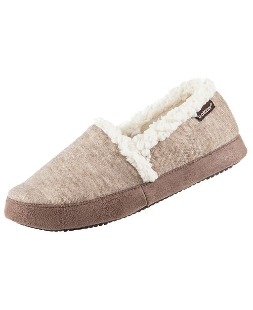 946d1cc419b8 ... Isotoner Signature Women s Heathered Knit Closed Back Slipper with  Memory ...