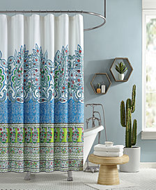 Jessica Simpson Valdivia Lined Cotton Shower Curtain