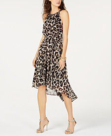 I.N.C. Petite Cheetah Print High-Low Dress, Created for Macy's