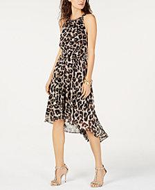 I.N.C. Cheetah-Print High-Low Dress, Created for Macy's