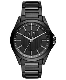 A|X Armani Exchange Men's Drexler Black  Stainless Steel Bracelet Watch 44mm