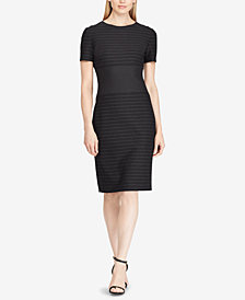 Lauren Ralph Lauren Pinstripe Fit & Flare Dress