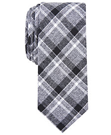 Barr III Men's Honiss Slim Plaid Tie, Created for Macy's