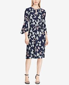 Lauren Ralph Lauren Floral-Print Keyhole Dress