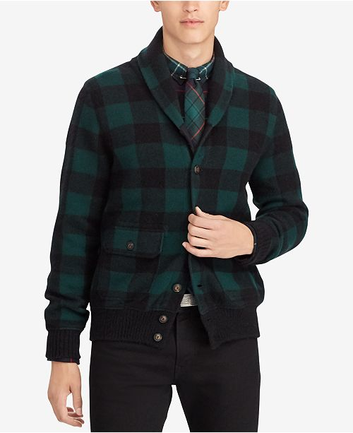 cd4700254c983 Polo Ralph Lauren Men s Checked Cardigan   Reviews - Sweaters ...