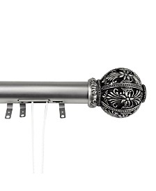 "Lacey Decorative Traverse Rod w/ Sliders 30""- 48"""