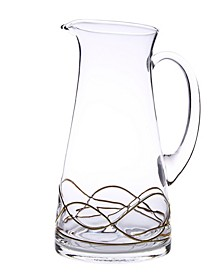 Swirl Pitcher With 14K Gold Swirl Design