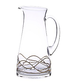 Classic Touch Swirl Pitcher With 14K Gold Swirl Design