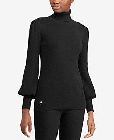 Lauren Ralph Lauren Ribbed Puff-Sleeve Sweater