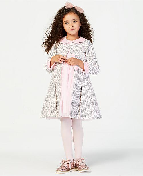 657afa9dacdc ... Set; Blueberi Boulevard Little Girls 2-Pc. Tweed Coat & Dress ...
