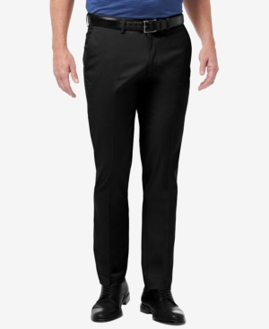 Men's Premium No Iron Khaki Slim-Fit Flat Front Pants