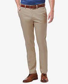Men's Premium No Iron Khaki Slim-Fit Flat Front Pants