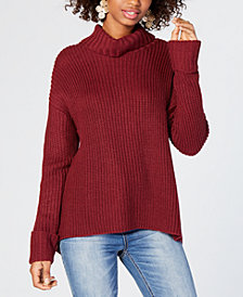American Rag Juniors' Lace-Up Turtleneck Sweater, Created for Macy's