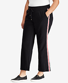 Lauren Ralph Lauren Plus Size Striped Sweatpants