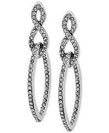 Anne Klein Pavé Interlocked Link Double Drop Earrings