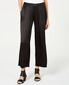 Eileen Fisher Silk Wide-Leg Pants