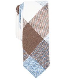 Penguin Men's Carlson Check Skinny Tie