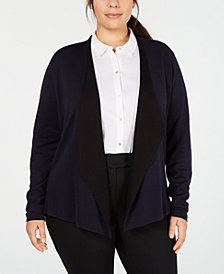 Eileen Fisher Plus Size Open Cardigan
