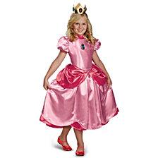 Super Mario Brothers Deluxe Princess Peach Big Girls Costume