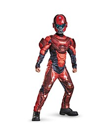 Halo Red Spartan Classic Muscle Little and Big Boys Costume