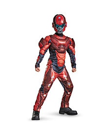 Halo Red Spartan Classic Muscle Big Boys Costume