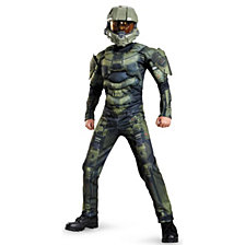 Halo Master Chief Muscle Big Boys Costume