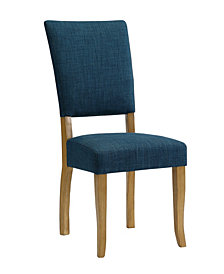 Set of 2 Open Back Parsons Dining Chairs in Blue