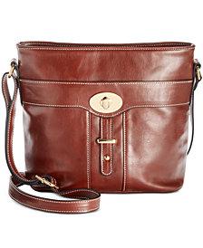 Giani Bernini Glazed Turn-Lock Bucket Bag, Created for Macy's