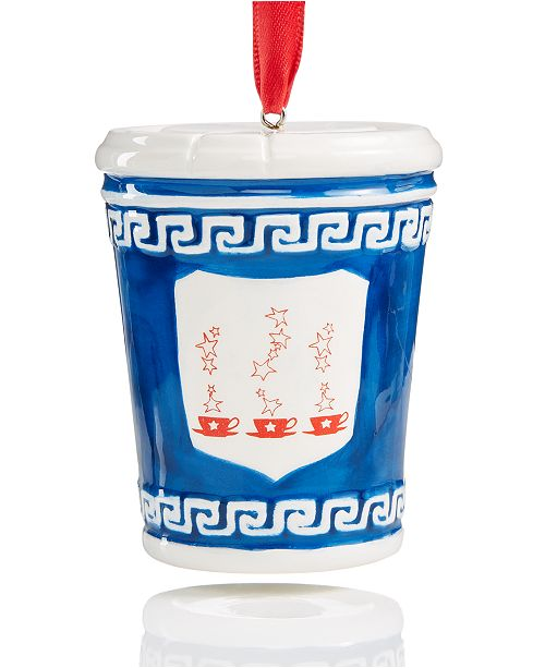 Macy's Collectible New York Coffee Cup Ornament, Created for Macy's