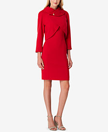 Tahari ASL Petite Envelope-Collar Dress Suit