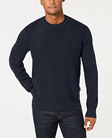 Sean John Men's Moto Rib Sweater
