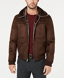 Tasso Elba Men's Faux-Shearling Flight Jacket, Created for Macy's
