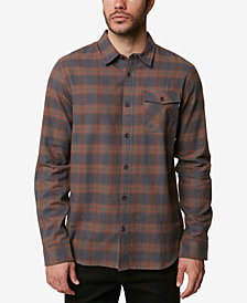 O'Neill Mens Graham Shadow Plaid Flannel Shirt