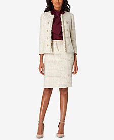 Tahari ASL Bouclé Jacket & Belted Skirt