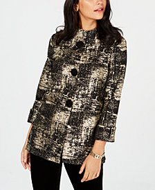 JM Collection Foil-Print Jacket, Created for Macy's