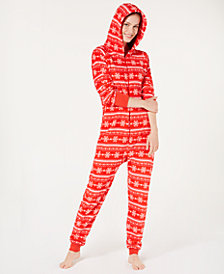 Jenni Soft Hooded One-Piece Pajama, Created for Macy's