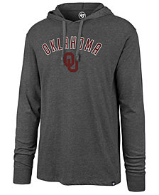 '47 Brand Men's Oklahoma Sooners Long Sleeve Focus Hooded T-Shirt