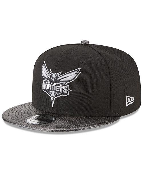 sale retailer 8d204 8a6c7 ... New Era Charlotte Hornets Snakeskin Sleek 9FIFTY Snapback Cap ...