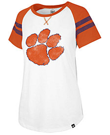 '47 Brand Women's Clemson Tigers Fly Out Raglan T-Shirt