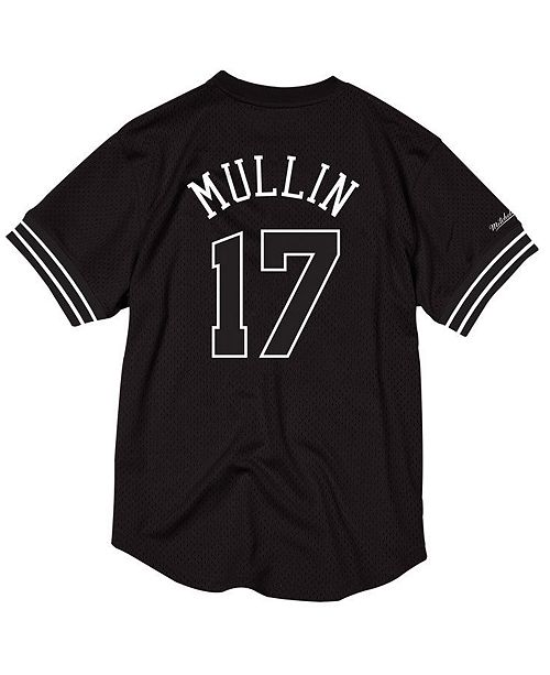 26e6ca28a1f ... switzerland mitchell ness mens chris mullin golden state warriors black  white mesh name and number crew