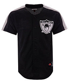 Mitchell & Ness Men's Oakland Raiders Winning Team Mesh Button Front Jersey