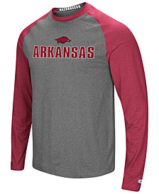 Colosseum Men's Arkansas Razorbacks Social Skills Long Sleeve Raglan Top