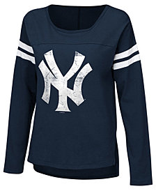 Touch by Alyssa Milano Women's New York Yankees Free Agent Long Sleeve T-Shirt